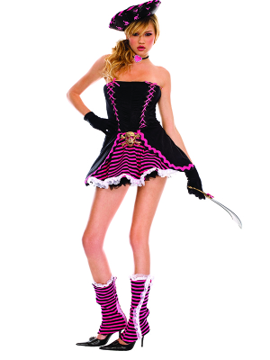 Disfraz pirata juvenil mujer